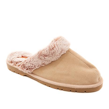 """""""As Is"""" Sporto® Jasmine3 Knit Slipper with Faux Fur Trim"""