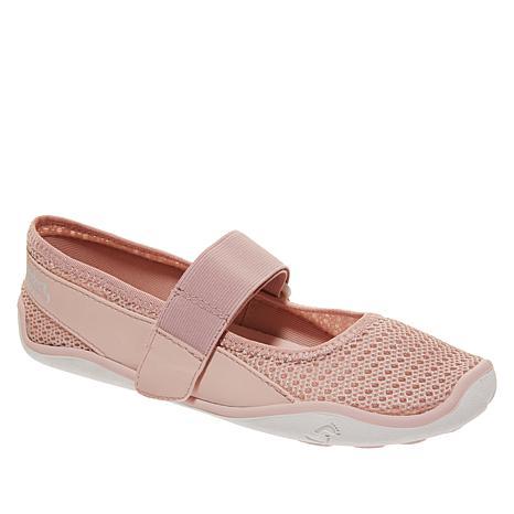 """As Is"" Tony Little Cheeks® Aqua Barefoot Mary Jane Shoe"