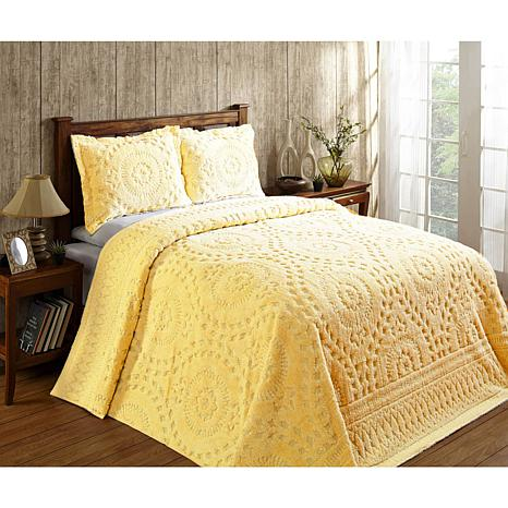 Cotton Tufted Chenille Bedspread, Chenille Bedding Queen