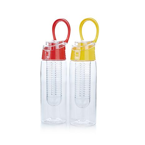 asobu® Flavor-It 2 Go Water Bottle w/Flavor Infuser 2pk