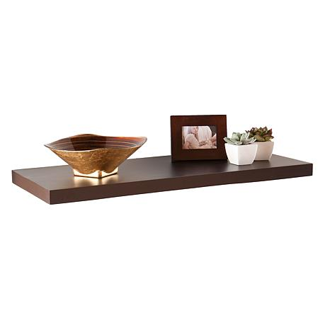 "Assissi 24"" Floating Shelf - Espresso"