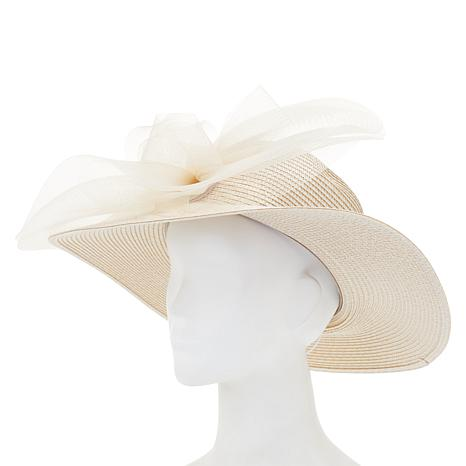 efc37f4a7ae August Hat Company Fine Millinery Gathered Brimmed Dressy Hat - 8900186