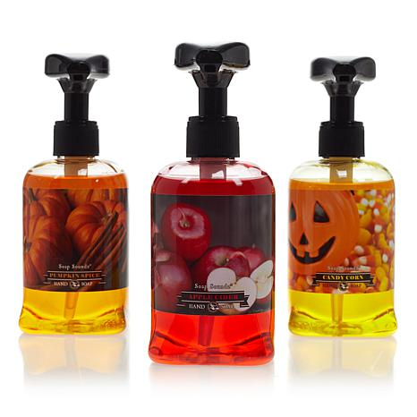 Autumn 3-pack of Liquid Hand Soap with Musical Pumps
