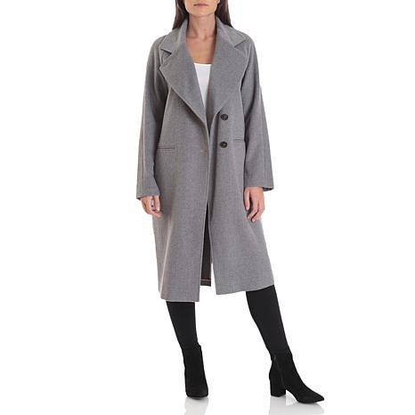 Avec Les Filles Double Face Wool Raglan Coat