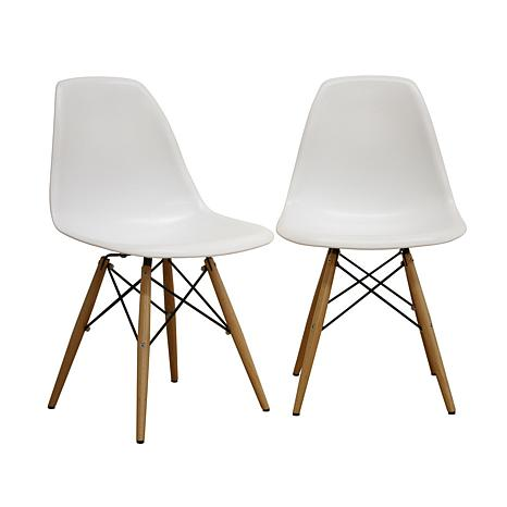 Plastic side chairs set of 2 6439700 hsn for Designer chairs for less