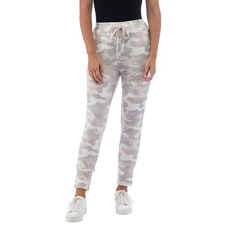 B Collection by Bobeau Camo-Print Brushed Knit Jogger Pant