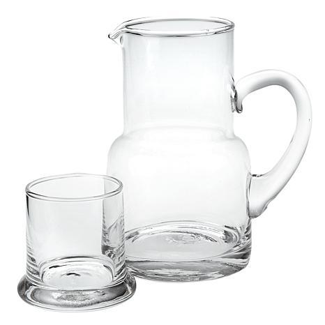Badash Long Island Glass Bedside or Desktop Carafe 2-piece Set