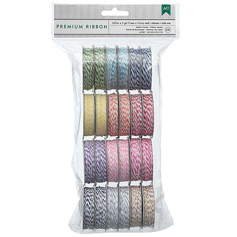 Baker's Twine 24-pack 5-yard Spools - Bright