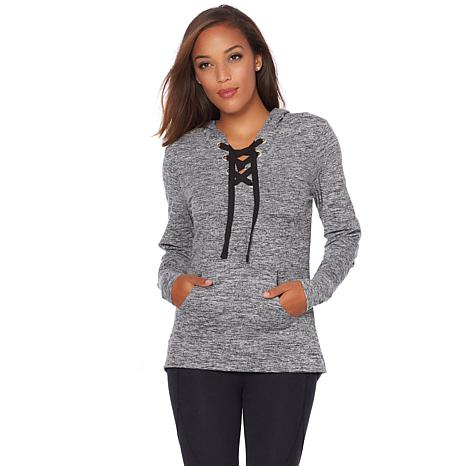 Balance By Marika Danique Lace Up Hoodie 8531332 Hsn