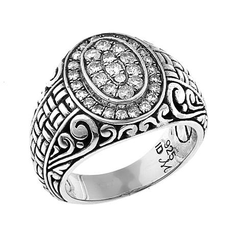 Bali Designs 0.71ctw Diamond Scrollwork Ring