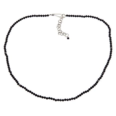 "Bali Designs 18"" Black Spinel Beaded Necklace"