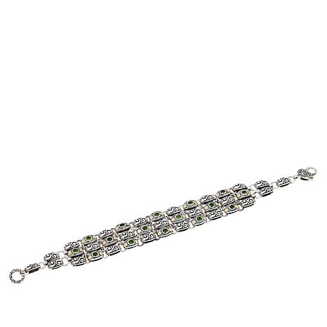 Bali Designs 1.92ctw Chrome Diopside Layered Bracelet