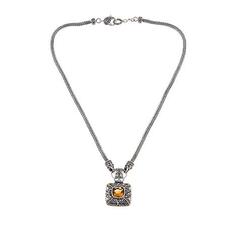 "Bali Designs 3.2ct Citrine Scrollwork 17"" Necklace"