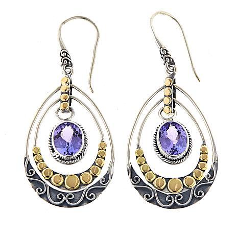 Bali Designs 3.2ctw Tanzanite Chandelier Earrings