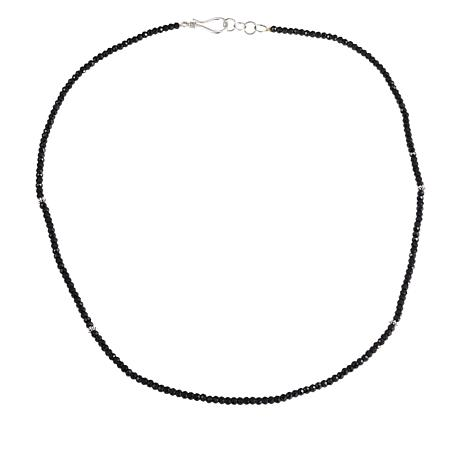 "Bali Designs by Robert Manse Black Spinel Beaded 18"" Necklace"
