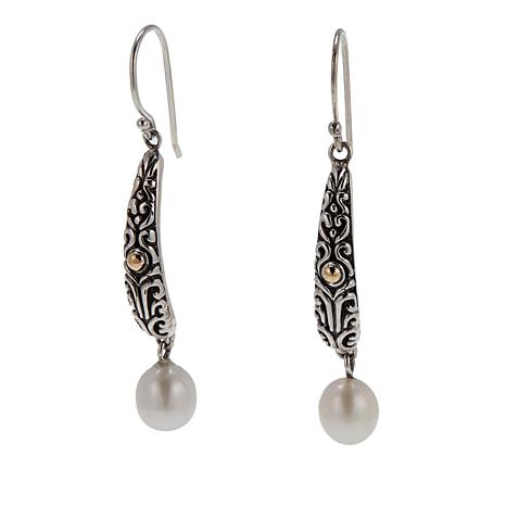 Bali Designs Cultured Pearl Elongated Earrings