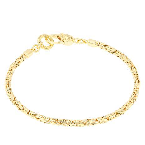 Bali Designs Gold-Plated Sterling Silver Byzantine Chain Bracelet  ...