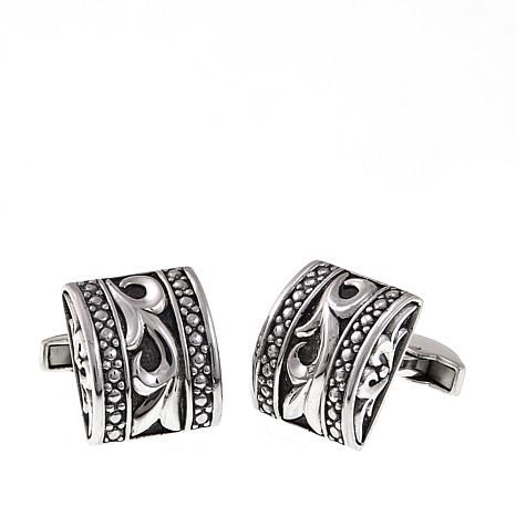 Bali Designs Men's Curved Scrollwork Cuff Links
