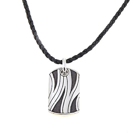 "Bali Designs Men's Zebra Stripe Pendant with 22"" Cord"