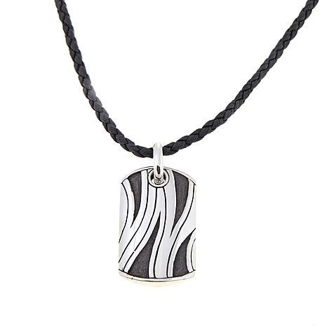 """Bali Designs Men's Zebra Stripe Pendant with 22"""" Cord"""