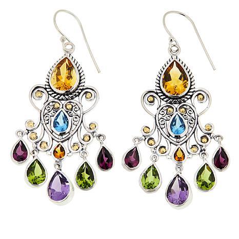 Bali Designs Multi-Gemstone Chandelier Earrings