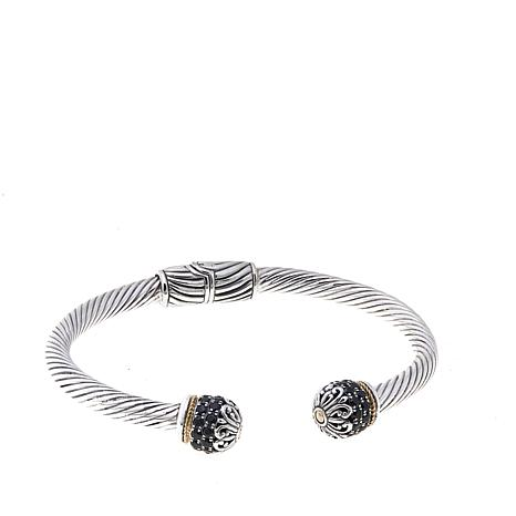 Bali Designs Multistone  Cable Cuff Bracelet
