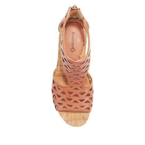 Miriam Laser-Cut Wedge Platform Sandal