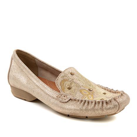 Baretraps® Otella Embroidered Suede Loafer