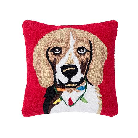 Beagle Hooked Pillow