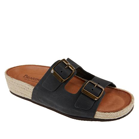 BEARPAW® Anita Leather Double Buckle Sandal