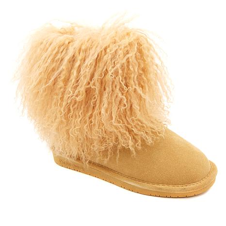 BEARPAW® Boo Suede and Curly Lamb Boot