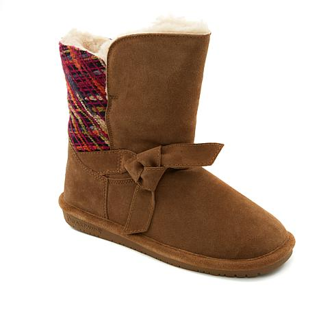 BEARPAW® Geneva Suede Sheepskin Boot with NeverWet™