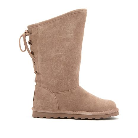 BEARPAW® Phylly Suede Laced-Back Boot with NeverWet™