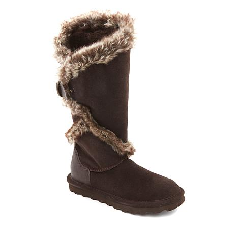 BEARPAW® Sheilah Suede and Faux Fur Tall Boot with NeverWet®