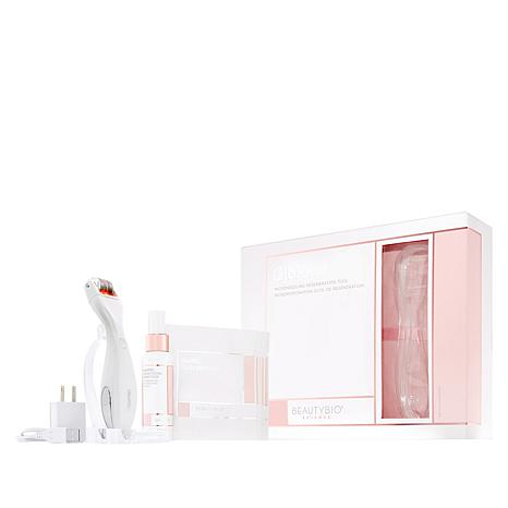 BeautyBio GloPRO Device with Face MicroTip and GloPRO Stand