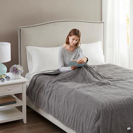 Beautyrest Washable Fleece Electric Blanket - Twin/Gray