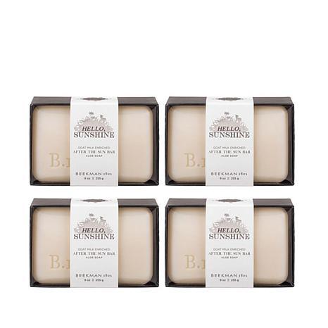 Beekman 1802 After the Sun Goat Milk Bar Soap 4-piece Set
