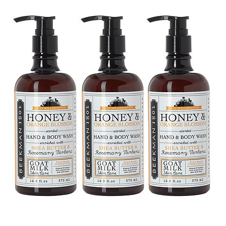 Beekman 1802 Honey and Orange Blossom Goat Milk Hand Wash Trio 12.5 oz