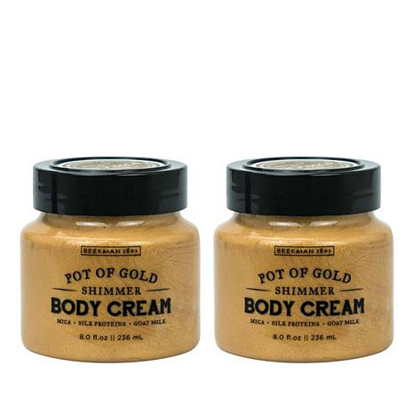 Beekman 1802 Pot of Gold Goat Milk Shimmer Body Cream Duo - 8 fl. oz.