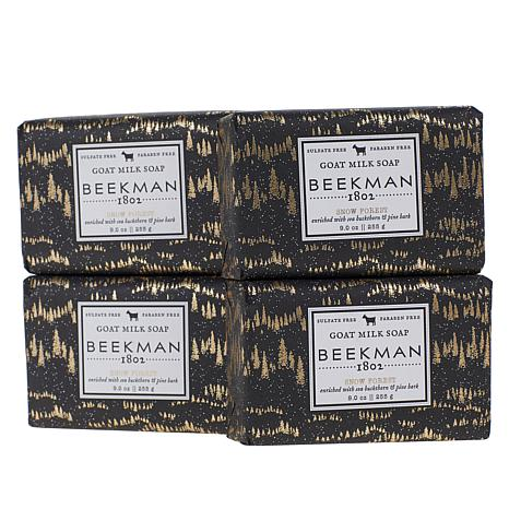 Beekman 1802 Snow Forest 4-piece Goat Milk Bar Soap Set