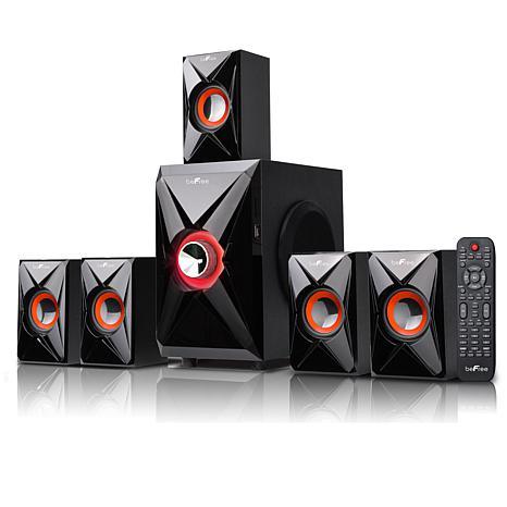 beFree Sound 5.1-Ch. 25W + 10W Bluetooth Speaker System