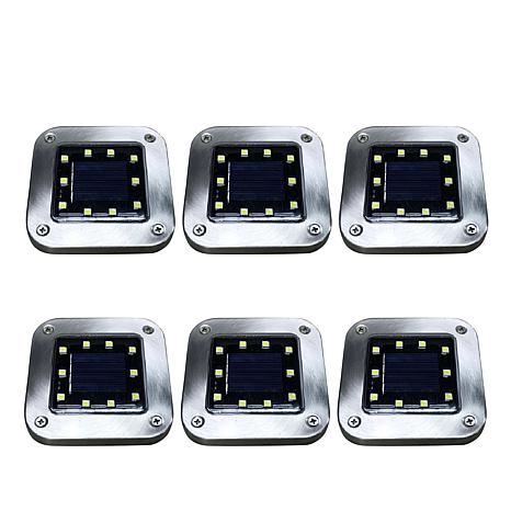 Bell + Howell 6-pack Deluxe Square Solar Disk Lights
