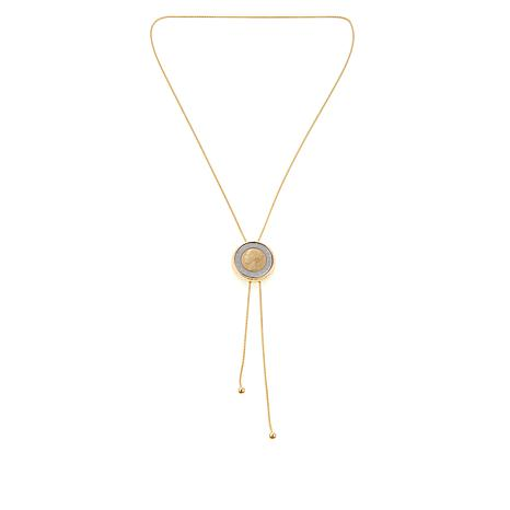 "Bellezza ""Annaliese"" 500 Lira Coin Y-Necklace"