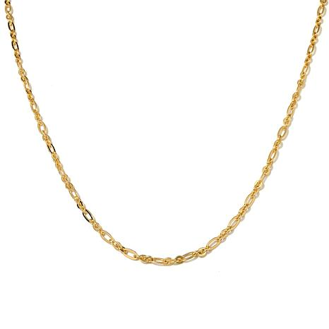 "Bellezza Bronze Figaro-Link 34"" Necklace"