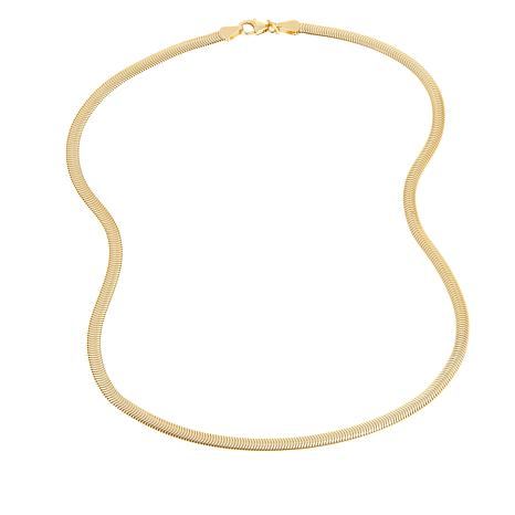 "Bellezza Bronze Flat Snake Chain 18"" Necklace"