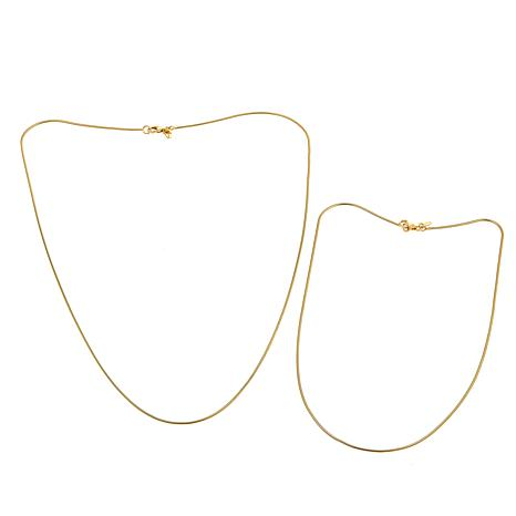 Bellezza Bronze Set of 2 Snake Chain Necklaces