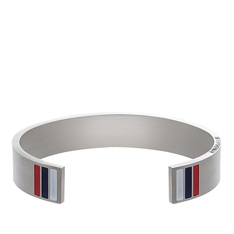 a3a56e447789 Ben Sherman Men s Stainless Steel Enamel British Flag Cuff Bracelet -  8794410