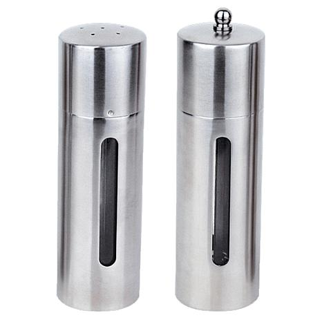 "BergHOFF Essentials 7"" 18/10 Stainless Steel Round Salt and Pepper Set"