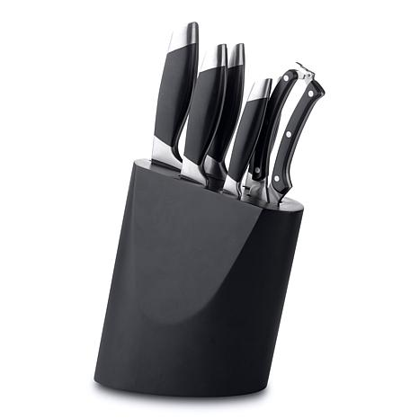 BergHOFF Geminis 7-piece Stainless Steel Knife Set with Block