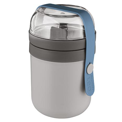 BergHOFF Leo Collection 2-Cup Dual Lunch Pot - Blue & Gray